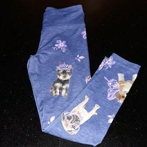 Puppy Leggings ~ Justice Butterfly Blue denim med
